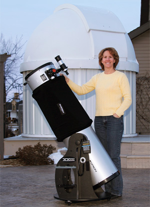 Terri W. with an Orion Dob!