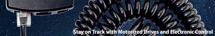 Stay on track with motorized Drives and electronic Control